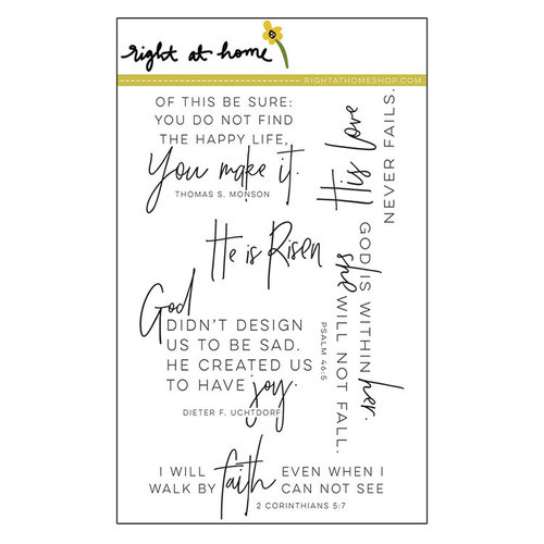 Right At Home - Clear Acrylic Stamps - His Love