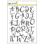 Right At Home - Clear Acrylic Stamps - Brushstroke Alphabet Uppercase