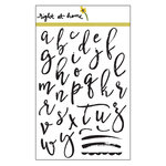 Right At Home - Clear Acrylic Stamps - Brushstroke Alphabet Lowercase