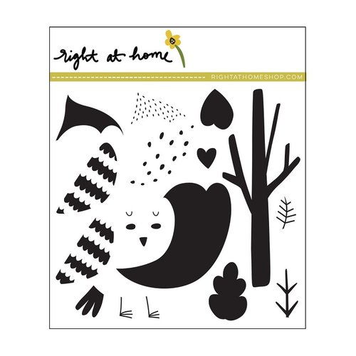 Right At Home - Clear Acrylic Stamps - Cozy Cardinal