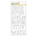 Right At Home - Clear Acrylic Stamps - Folk Alphabet - Detail