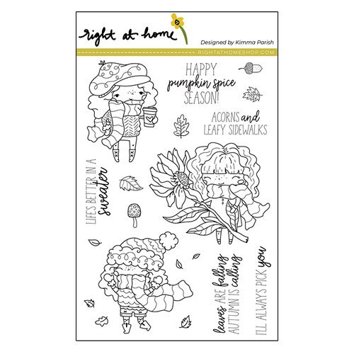 Right At Home - Clear Acrylic Stamps - Pumpkin Spice Season