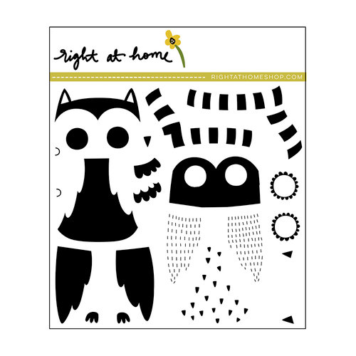 Right At Home - Clear Acrylic Stamps - Nestling Owl