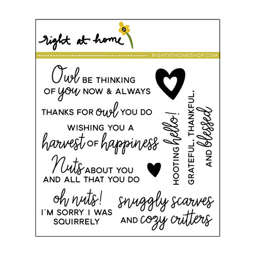 Right At Home - Clear Acrylic Stamps - Critter Chat