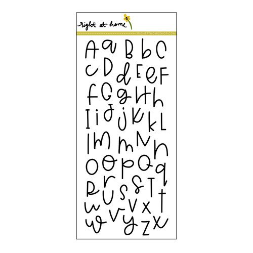 Right At Home Doodle Alphabet Stamps