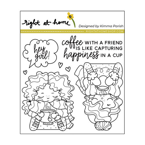 Right At Home - Clear Acrylic Stamps - Cuppa Friendship