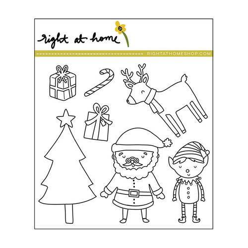 Right At Home - Christmas - Clear Acrylic Stamps - Santa