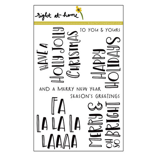 Right At Home - Christmas - Clear Acrylic Stamps - Fa La La