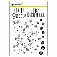 Right At Home - Clear Acrylic Stamps - Snow Flurries Background