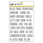 Right At Home - Clear Acrylic Stamps - Simple Sentiments