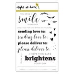 Right At Home - Clear Acrylic Stamps - Sending Love