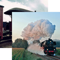 Reminisce - All Aboard Collection - 12 x 12 Double Sided Paper - Steam Power
