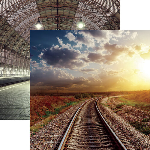 Reminisce - All Aboard Collection - 12 x 12 Double Sided Paper - Into the Sunset