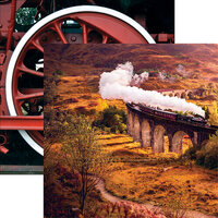 Reminisce - All Aboard Collection - 12 x 12 Double Sided Paper - Glenfinnan Viaduct
