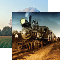 Reminisce - All Aboard Collection - 12 x 12 Double Sided Paper - American Classic