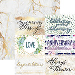 Reminisce - Anniversary Blessings Collection - 12 x 12 Double Sided Paper - Blessings of Love