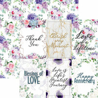 Reminisce - Anniversary Blessings Collection - 12 x 12 Double Sided Paper - Always and Forever