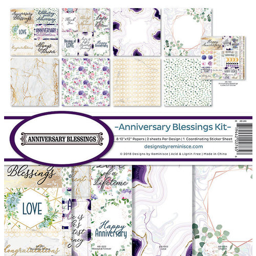 Reminisce - Anniversary Blessings Collection - 12 x 12 Collection Kit