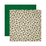 Reminisce - A Christmas Story Collection - 12 x 12 Double Sided Paper - Christmas Holly