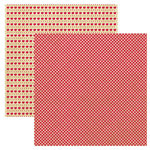 Reminisce - Autumn Forest Collection - 12 x 12 Double Sided Paper - Apple Orchard Gingham, CLEARANCE