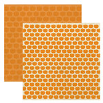Reminisce - Autumn Forest Collection - 12 x 12 Double Sided Paper - Pumpkin Parade