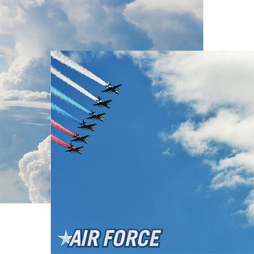 Reminisce - Air Force Collection - 12 x 12 Double Sided Paper - 1