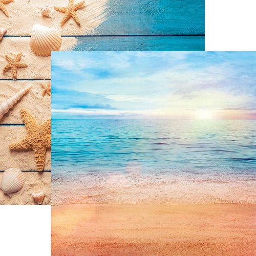 Reminisce - All Inclusive Vacation Collection - 12 x 12 Double Sided Paper - Caribbean Beach