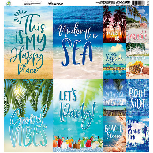 Reminisce - All Inclusive Vacation Collection - 12 x 12 Cardstock Stickers - Poster