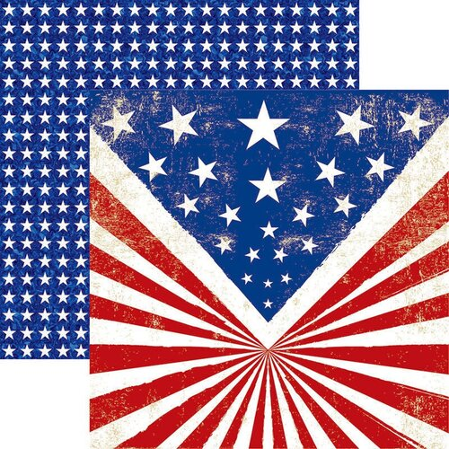 Reminisce - All American Collection - 12 x 12 Double Sided Paper - All American