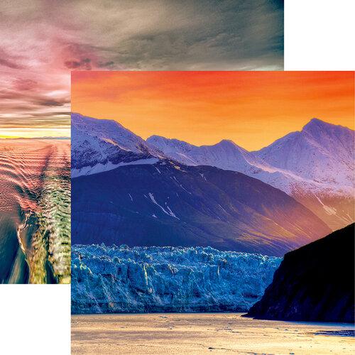 Reminisce - Alaska Cruise Collection - 12 x 12 Double Sided Paper - Alaskan Sunrise