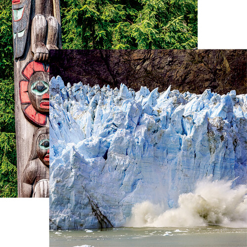 Reminisce - Alaska Cruise Collection - 12 x 12 Double Sided Paper - Calving Glacier