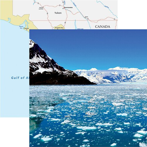 Reminisce - Alaska Cruise Collection - 12 x 12 Double Sided Paper - Icy Waters