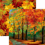 Reminisce - Autumn Splendor Collection - 12 x 12 Double Sided Paper - Autumn Trail