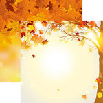 Reminisce - Autumn Splendor Collection - 12 x 12 Double Sided Paper - Autumn Splendor