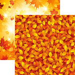 Reminisce - Autumn Splendor Collection - 12 x 12 Double Sided Paper - Splashes of Color