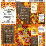 Reminisce - Autumn Splendor Collection - 12 x 12 Cardstock Stickers - Poster