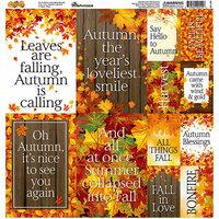 Reminisce - Autumn Splendor Collection - 12 x 12 Cardstock Stickers - Poster