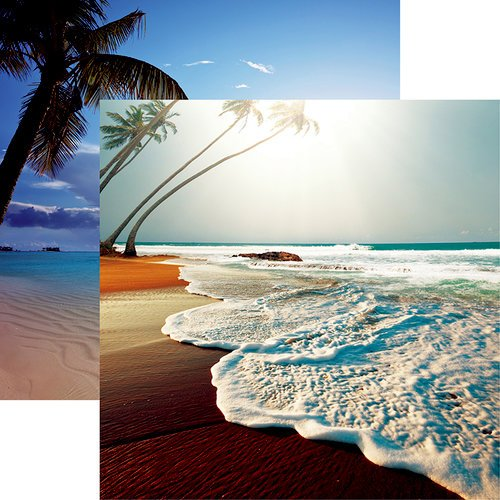 Reminisce - At the Beach Collection - 12 x 12 Double Sided Paper - Beachin' It