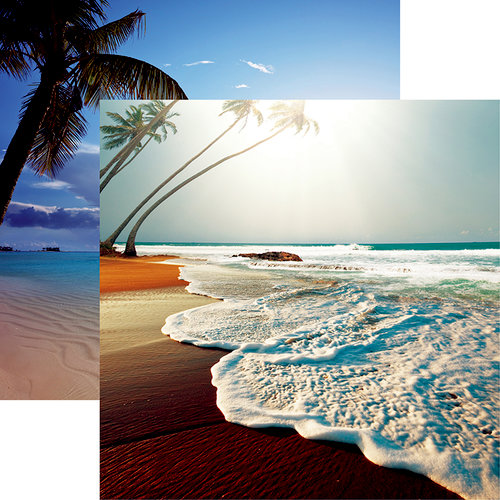 Reminisce - At the Beach Collection - 12 x 12 Double Sided Paper - Beachin