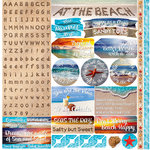 Reminisce - At the Beach Collection - 12 x 12 Cardstock Stickers - Alphabet
