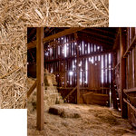 Reminisce - At the Farm Collection - 12 x 12 Double Sided Paper - In the Barn