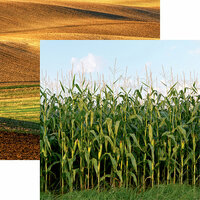 Reminisce - At the Farm Collection - 12 x 12 Double Sided Paper - Field of Dreams