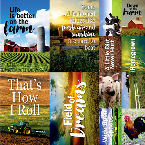 Reminisce - At the Farm Collection - 12 x 12 Cardstock Stickers - Poster