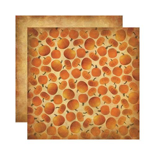 Reminisce - Autumn Harvest Collection - 12 x 12 Double Sided Paper - Autumn Pumpkins