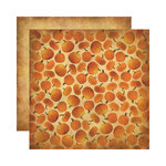 Reminisce - Autumn Harvest Collection - 12 x 12 Double Sided Paper - Autumn Pumpkins