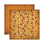 Reminisce - Autumn Harvest Collection - 12 x 12 Double Sided Paper - Shades of Autumn