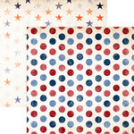 Reminisce - American Vintage Collection - 12 x 12 Double Sided Paper - All American