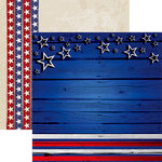 Reminisce - American Vintage 2 Collection - 12 x 12 Double Sided Paper - Stars and Stripes