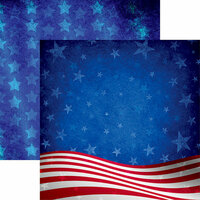 Reminisce - American Vintage 2 Collection - 12 x 12 Double Sided Paper - Waves