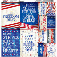 Reminisce - American Vintage 2 Collection - 12 x 12 Cardstock Stickers - Poster